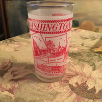 Washington DC Collector Glass, United States Capital, the White House, Mount Vernon, Washington Monument, Lincoln Statue, Jefferson Memorial