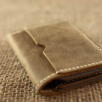 Mens Leather Wallet // Chestnut Brown Leather // Beautfiul Slim Design // Mens Womens Leather Wallets // Personalized Monogram