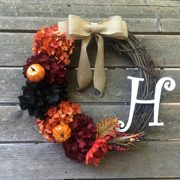 Fall Wreath, Halloween wreath, Fall Wreathes, Door Wreath, Fall Decor, Autumn Wreath, Fall Wreaths, Hydrangea Wreath, Outdoor Wreath