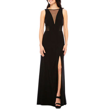 Jackie Jon Short Sleeve Embellished Evening Gown - JCPenney