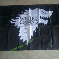 3X5FT Game Of Thrones Winter Is Coming Stark Sigil flags 90x150cm polyester digital print banner 100D