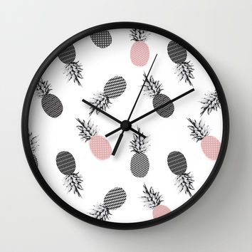Falling Pineapple Wall Clock by Cafelab