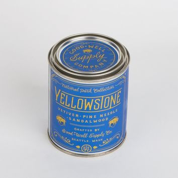 Yellowstone National Park Candle - vetiver, pine needle + sandalwood