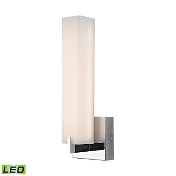 Moderno 54-Light Wall Lamp in Chrome with White Opal Glass