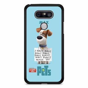 The Secret Life Of Pets Max Poster LG G5 Case