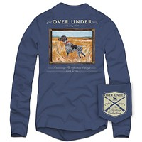 Long Sleeve Standing Tall Tee in Navy by Over Under Clothing - FINAL SALE