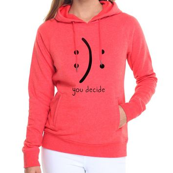sweatshirts fleece hoody 2017 hipster long sleeve brand tracksuits Smiling face women harajuku crying face you decide hoodies pp
