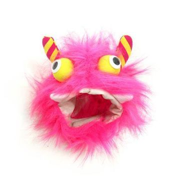 Furry Monster Dog Hat by Dogo - Pink