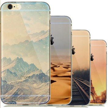 Nature Clear Landscape Phone Case Coque for capinha para iphone 5 5s 6 6s Silicone Soft Cover The Big Ben Scenery Sunrise Sleeve
