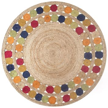 nuLoom Denita Circles Border Jute Area Rug