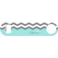 Charlotte - Personalized Chevron Bottle Opener