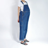 90s Maternity Denim Overalls / Workwear Boyfriend Hip Hop Oversized Style / Size L- XL