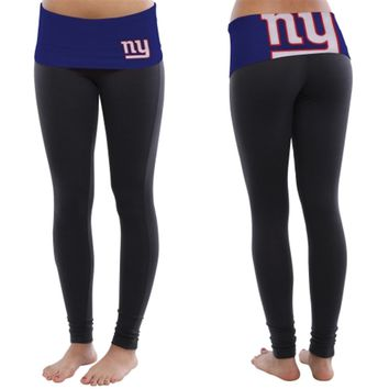 Women's New York Giants Black Sublime Knit Leggings