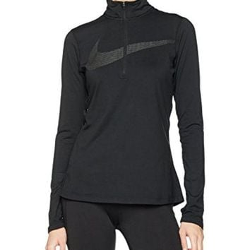 ONETOW Nike Dry Women's Dri-Fit Half Zip Running Jacket Black 844623 010
