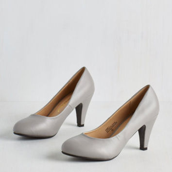 Minimal In a Classic of Its Own Heel in Grey