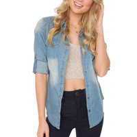 Sahara Denim Top - Light Wash