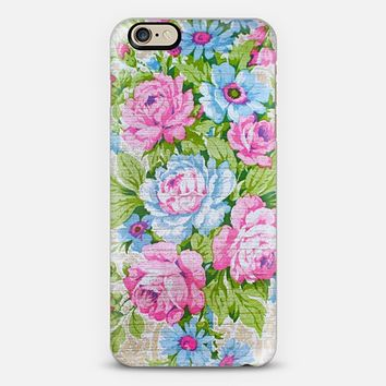 vintage wallpaper iPhone 6 case by Sylvia Cook | Casetify