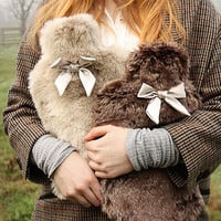 luxurious hot water bottle cover by this is pretty | notonthehighstreet.com