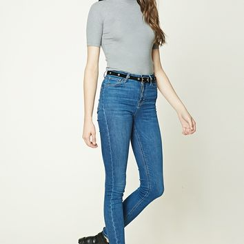 Heathered Ribbed Knit Top