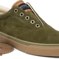 Sperry Top-Sider Striper CVO Suede Sneaker Olive, Size 11M  Men's Shoes