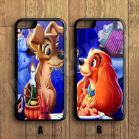 Lady and the Tramp Couple Case,Custom Case,iPhone 6+/6/5/5S/5C/4S/4