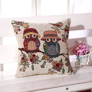 Cartoon Handmade Owl Home Decor Pillow Decorative Throw Pillows Cute Drawing 5