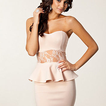 Bandeau Mesh Peplum Dress, Club L