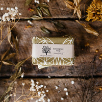 Linen Wrapped Lemongrass Soap