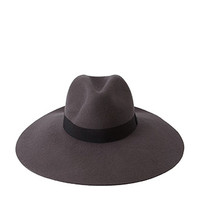Floppy Wide-Brim Wool Fedora