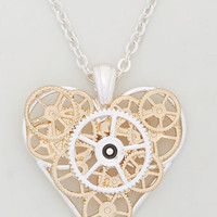 ModCloth Steampunk Inner Workings of the Heart Necklace