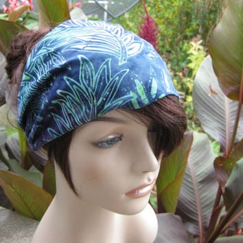 Batik Fabric Headband Gypsy Headwrap Women's Bandana Hair Accessory Gifts for Her Head Band