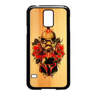 Star Wars Roses Tatto In Wood Samsung Galaxy S5 Case