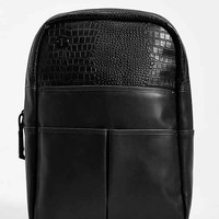 Focused Space Veneer Crocodile Backpack