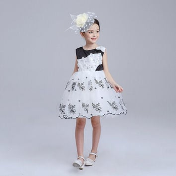High Quality 2016 Girls tutu Dresses Flower Girl Dresses Lace Princess Birthday Party Dresses For Kids Clothes Bridesmaid