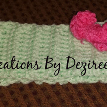 Customizable Handmade Crochet Aqua headwrap! perfect gift idea!