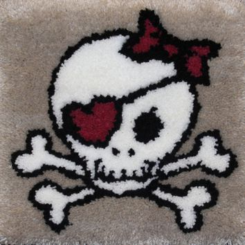 "Skull Latch Hook Kit 15""X15"""