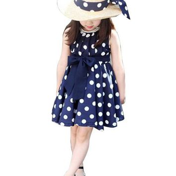 Polka Dot Chiffon Dress For Baby Girl