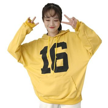 Winter Women Hoodies Sweatshirt Harajuku Kawaii Tops Ladies Preppy Style Letter Hooded Pullover Sweatshirts Tracksuit WH2209