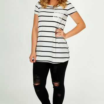 Can't Go Wrong Top: Black/White - Tees & Tanks - Tops - Hope's Boutique