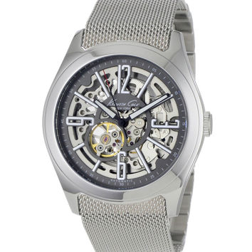 Kenneth Cole KC9021 Men's Stainless Steel Automatic Skeleton Dial Watch