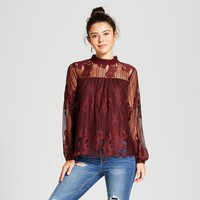 Women's Lace Mockneck Top - Xhilaration™