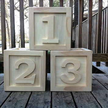 BIG Wooden Block 12x12x12 Photo Props Kids by PJsCraftingCorner