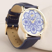Blue Mosaic Face Watch