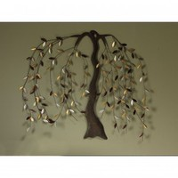 Cape Craftsmen Willow Metal Wall Art - 6AWD63004 - Wall Art & Coverings - Decor