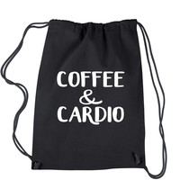 Coffee And Cardio Drawstring Backpack