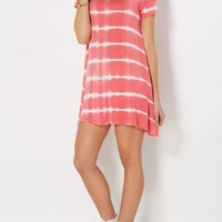 Coral Tie-Dyed Tent Dress | Mini Dresses | rue21