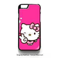 Hello Kitty Girl for iPhone 4 4S 5 5S 5C 6 6 Plus , iPod Touch 4 5  , Samsung Galaxy S3 S4 S5 Note 3 Note 4 , and HTC One X M7 M8 Case Cover