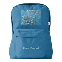 Almond Blossoms Blue Vincent van Gogh Art Painting Backpack