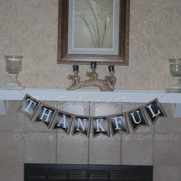Happy Thanksgiving, thankful banner, thankful, thanksgiving bunting. thanksgiving banner, fall decor, thanksgiving decorations, holiday