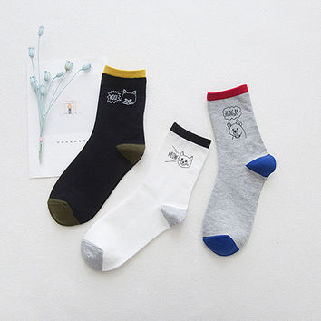 Cats Hanging Out 3 Sock Set